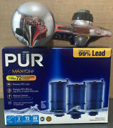 Pur Faucet Mount Kitchen Water Filter Plus Pack Of New Maxion Filters Rf-9999