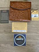 New Patricia Nash Reiti Wallet Florence Tooled 40907 Usa Seller Free Shipping