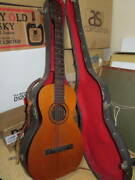 Super Rare Vintage Harp Classical Acoustic Guitar With Hard Case Japan Shipped