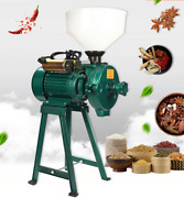 220v Electric Feed Mill Wet Dry Cereals Grinder Corn Grain Rice Coffee Wheat