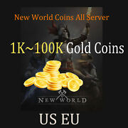 New World Coins1k/2k/5k/10k/20k/50k Gold Us Eu All Server And Any Faction