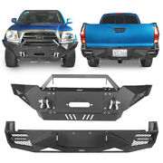 Replacement Steel Front Bumper + Rear Bumper Combo For Toyota Tacoma 2005-2015