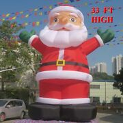 33 Ft Giant Inflatables Santa Claus Advertising Christmas Big Old Man Outdoor