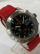 Sinn 303 Autobahn Chronograph Automatic Day Date Black Dial 2 Straps Box And Paper