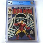 Iron Man 8 1968 💥 Cgc 9.6 White Pages 💥 Gladiator Appearance Marvel Comic