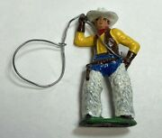 Vintage Manoil Barclay Cast Lead Cowboy Figure 3.5 Tall – Nicely Painted