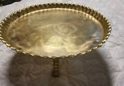 23 Antique Middle Eastern Brass Etched Tray Tea Table