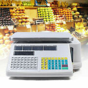 30kg Digital Weight Scale Price Computing Retail Count Scale+printer Supermarket