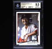 Mookie Betts Bgs 9.5 2014 Topps Update In Dugout Sp Rc