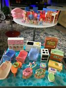 Fisher Price Loving Family Dollhouse Furniture Figures Lot + More