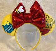 Handmade Winnie The Pooh Inspired Mickey Mouse Ears - Brand New