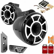 Wet Sounds Rev8b-x 8 Black Fixed Tower Speakers With Malibu G5 Tower Adapters