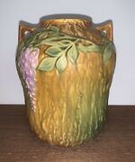 Roseville Pottery Wisteria Vase 634-7 Realistic Style 1933