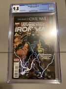 Invincible Iron Man 9 Cgc 9.8 White Pages Marvel