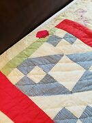 Hand Sewn Vintage Cutter Quilt As Is 67 X 83 As Found For Crafts / Hobbynu