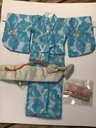 Vintage Barbie Francie Japanese Exclusive Kimono Blue For Doll Good Condition