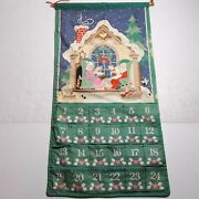 Vintage Avon 1987 Countdown To Christmas Advent Calendar Hanging Fabric No Mouse