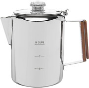 Coffee Pot Bozeman Camping Percolator For Campfire Or Stove Top Making 9 Cup