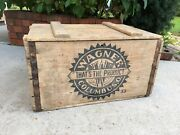 Vintage Wooden Beer Crate Wagner Brewing Wood Box Columbus Ohio 1933 Prohibition