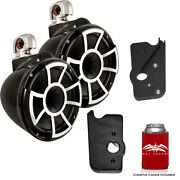Wet Sounds For Malibu G3 Towers Rev10b-sc 10 Black Swivel Mount Towers Adapters