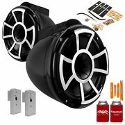 Wet Sounds Rev10b-x 10 Black Fixed Tower Speakers With 2019+ Fcta Adapters