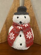 New Pottery Barn Cozy Archie Snowman Holiday/winter Pillow Sold Out