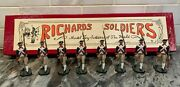 Set Of 8 Revolutionary War Metal Hand Painted Toy Soldiers Continental Marines
