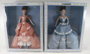 Lot Of 2 Limited Edition Collectible Wedgwood Barbie Dolls 18th Century England