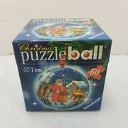Ravensburger 60 Piece Round Ball Christmas Puzzle Ornament