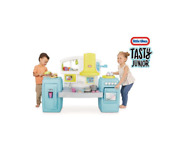 Little Tikes Tasty Jr. Bake 'n Share Play Kitchen With 40+ Piece Accessory Play