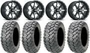 Itp Cyclone 14 Wheels Machined 26 Ceros Tires Sportsman 550 850 1000