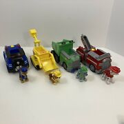 Paw Patrol Transforming Vehicles And Figures Chase Marshall And Rubble Rocky