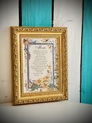 Antique Styled Gold Gesso Wood Mother Picture Frame Mom Gift Fit 5x7 Item550