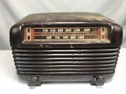 Vintage 1940and039s Philco Model Pt-2 Transitone Tube Radio Tested Receives Signal