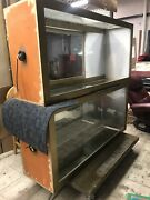"""Lot Of 2 Retail Store Glass Wooden Showcase Display Cases L5' X W16"""" Xh29"""" App"""