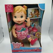 Baby Alive Blonde Baby Gets A Boo Boo New Sealed In Box Drinks Wet
