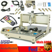 Usb 4axis Cnc6090 Router Engraver Metal Carving Engraving Mill Machine 1500w+rc