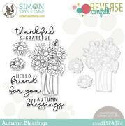 New - Stamptember 2021 - Reverse Confetti - Autumn Blessings Stamp And Die Set