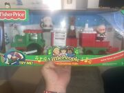 Fisher-price Little People Musical Christmas Train W/ Santa Mrs Claus And Reindeer