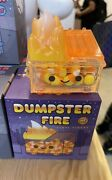 Dumpster Fire Candy Corn Limited Edition Vinyl Figure 100 Soft New In Hand