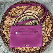 Jewell Thirty One Purple Berry Faux Leather Crossbody Adjustable Strap Purse