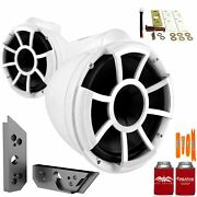 Wet Sounds Rev10w-x 10 White Tower Speakers With Malibu G5 Tower Adapters