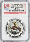 Canada 2012 Colorized 25 Cents Calgary Stampede 100th Anniversary Ngc Sp-69