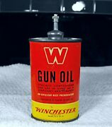 Vintage Winchester Large W Lead Top Handy Oiler Oil Tin Can Rare Nice