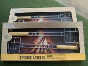 Refinery And Co. Set 2 S'mores Baskets Grill Campfire Grilled Cheese Vegetables