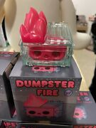 Dumpster Fire Red Skull Gid Nyc Exclusive Ltd Vinyl Figure 100 Soft New In Hand