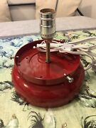 New Gas Pump Globe Lamp Stand Light Fixture - Red -andnbsp