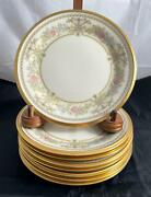 Set Of 8 Lenox Castle Garden Bread And Butter Plates Discontinued Made In Usa