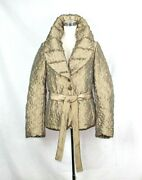 Mariella Burani Gorgeous Winter Gold Jacket Us Size 10 New Made In Italy 119