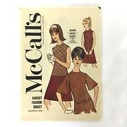 Vintage Mccall's August Fashion Digest And Fabric News 1966 Polly's Fabric Shop